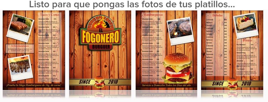 Plantilla para menu de hamburguesas o tacos de restaurantes ...