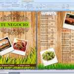 Menu Cortes y Carnes editable en Word