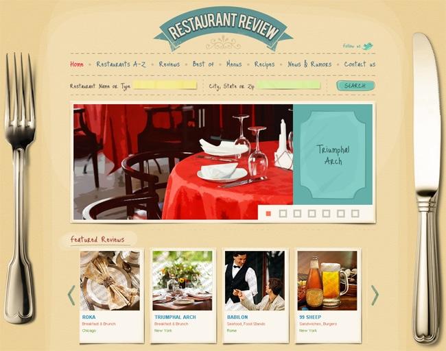 la pagina web de mi restaurante