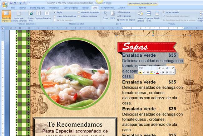 Menus Para Restaurantes Caseros Imagui