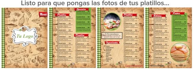 Crea tu propio menú para Restaurante o Cafeteria | Menus de ...