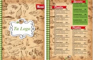 plantillas de menu para editar