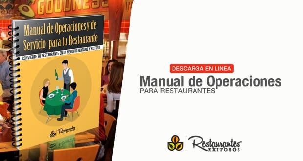 manual de operaciones para tu restaurante capacitaci n