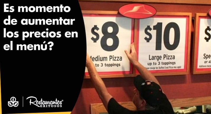 precio en el menu de restaurante