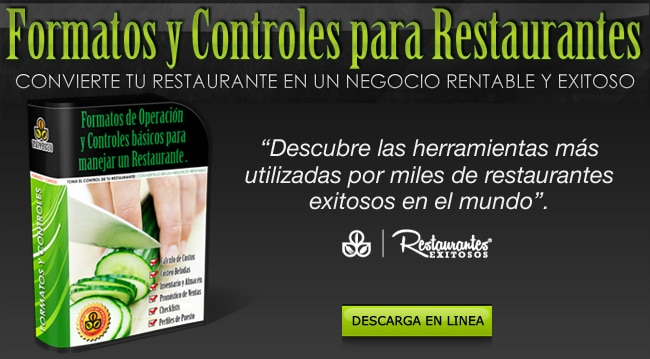 PACK FORMATOS Y CONTROLES PARA RESTAURANTES